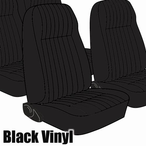 TMI Mustang Seat Upholstery Black Vinyl (81-83) Coupe High Back