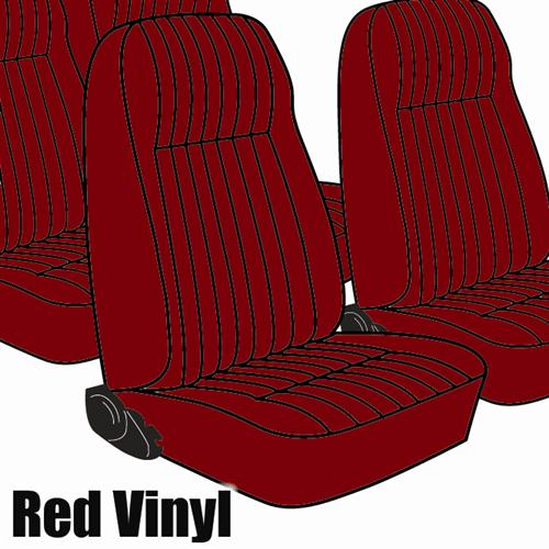 TMI Mustang Seat Upholstery Medium Red Vinyl (81-83) Hatchback