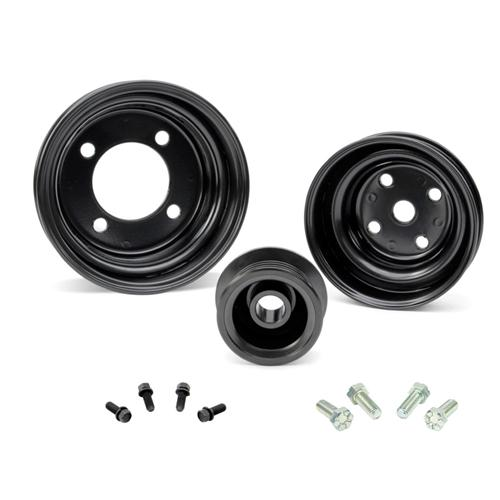 1979-93 Stock Steel Pulley and hardware Kit Black