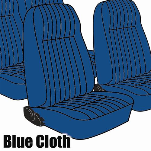 TMI Mustang Seat Upholstery Academy Blue Cloth (83-84) L Coupe High