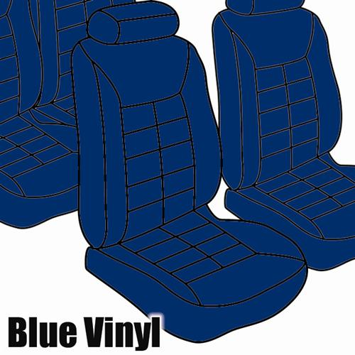 TMI Mustang Seat Upholstery Academy Blue Vinyl (83-84) Coupe Low Back
