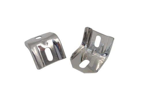Mustang Headlamp Reinforcement Panel  To Core Support Bracket, Polished (83-93)