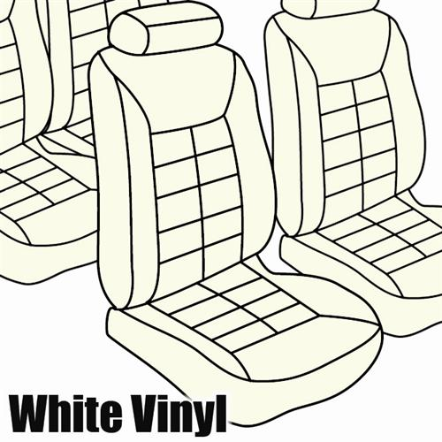 TMI Mustang Seat Upholstery Oxford White Vinyl (84-92) Convertible