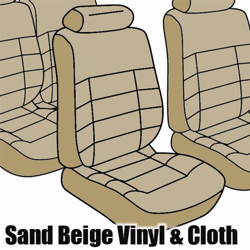 TMI Mustang Seat Upholstery Sand Beige Cloth (85-86) Convertible