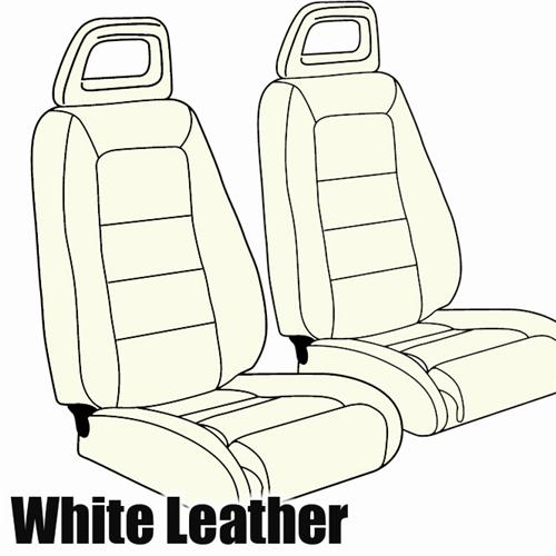 TMI Mustang Sport Seat Upholstery Oxford White Leather (85-86) Convertible
