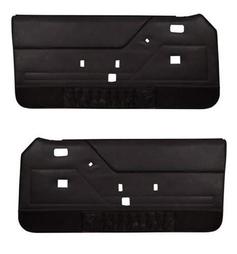 TMI Mustang Door Panels W/ Power Windows Dark Charcoal/Black (85-86)