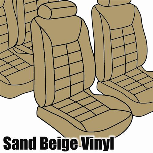 TMI Mustang Seat Upholstery Sand Beige Vinyl (85-89) Coupe