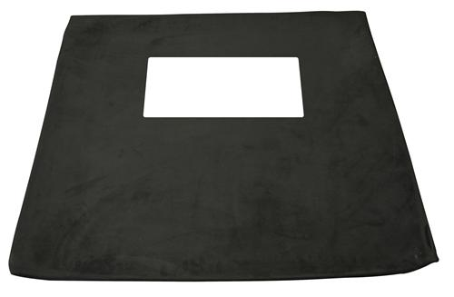 Mustang Suede Headliner w/Sunroof, Hatchback Black Suede (85-92)