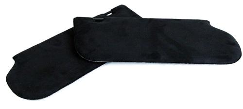 Mustang Sunvisors W/O Mirror Black Suede (85-93)