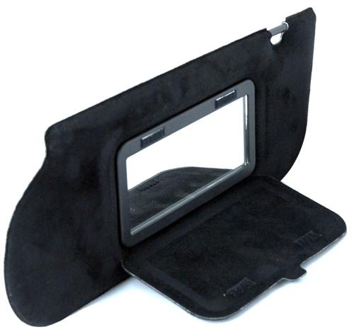 Mustang Sunvisors w/Mirrors Hatchback/Coupe Black Suede (85-93)