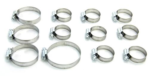 86-93 MUSTANG 5.0L RADIATOR HOSE CLAMP KIT - 86-93 MUSTANG 5.0L RADIATOR HOSE CLAMP KIT