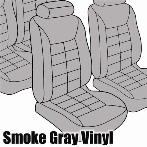 TMI Mustang Standard Seat Upholstery Smoke Gray Vinyl (87-89) Coupe
