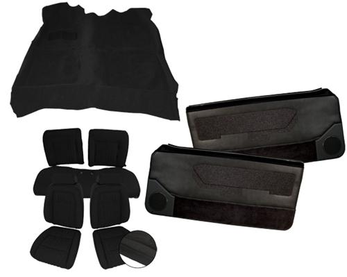 Mustang Interior Kit w/ Sport Seats Black (87-89) Convertible