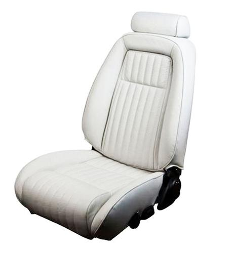 TMI Mustang Sport Seat Upholstery Oxford White Vinyl  (87-89) Convertible