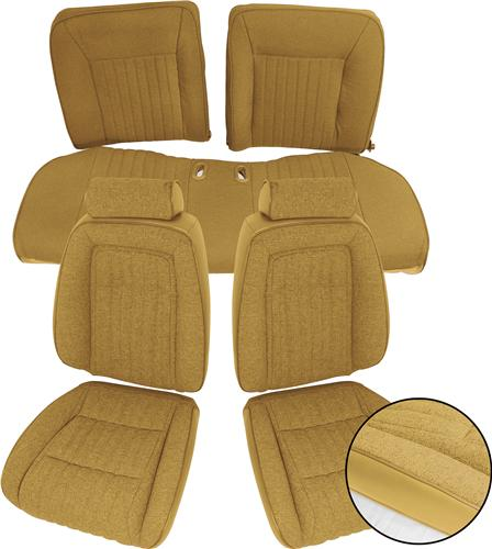 TMI Mustang Sport Seat Upholstery Sand Beige Cloth (87-89) Hatchback
