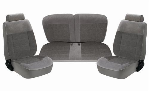 TMI Mustang Seat Upholstery Smoke Gray Cloth (87-89) LX Hatchback