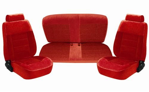 Mustang Seat Upholstery Scarlet Red Cloth (90-92) Coupe