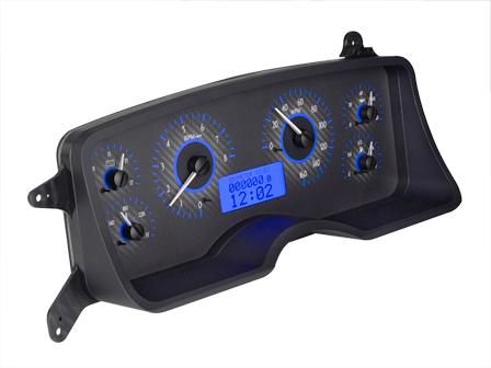 Mustang Digital Instrument Cluster Carbon Face/Blue Backlighting (87-89) - Picture of Mustang Digital Instrument Cluster Carbon Face/Blue Backlighting (87-89)