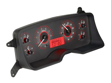 Mustang Digital Instrument Cluster Carbon Face/Red Backlighting (87-89) - Picture of Mustang Digital Instrument Cluster Carbon Face/Red Backlighting (87-89)