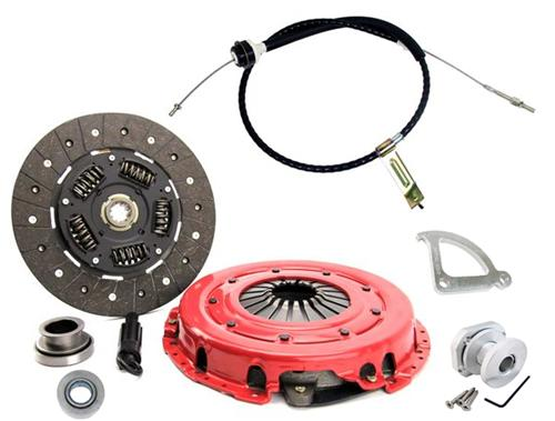 1986-95 Mustang Ram Hdx Clutch Kit with Clutch Cable, Quadrant, & Firewall Adjuster.  Kit Consists Of:  Ram-88794Hd Lrs-7553A - Picture of 1986-95 Mustang Ram Hdx Clutch Kit
