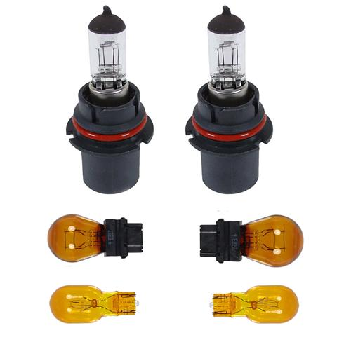 90-93 MUSTANG HEADLIGHT BULB KIT INCLUDES 2 HEADLIGHT, 2 PARKING & 2 SIDEMARKER BULBS