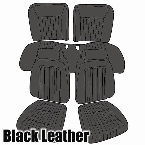 TMI Mustang Sport Seat Upholstery Black Leather  (90-91) Convertible