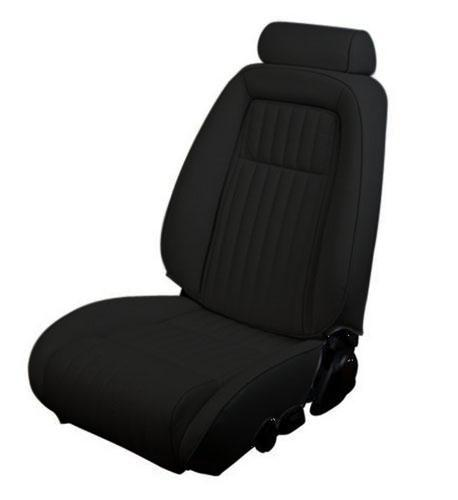 1990-91 Mustang Convertible Black Vinyl Seat Upholstery, for sport seat with pull out knee bolster.  Use LRS-9091hbb for picture and photoshop - Picture of 1990-91 Mustang Convertible Black Vinyl Seat Upholstery