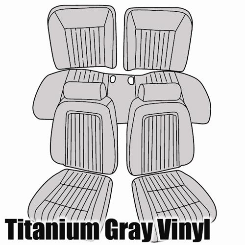 TMI Mustang Sport Seat Upholstery Titanium Gray (90-91) Convertible