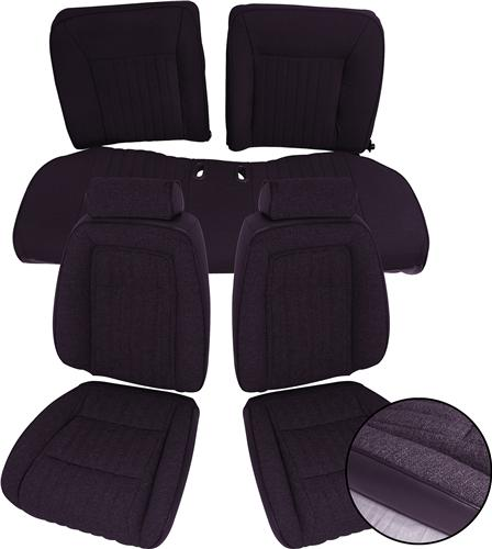 Mustang Interior Kit w/ Sport Seats Black (87-89) Hatchback