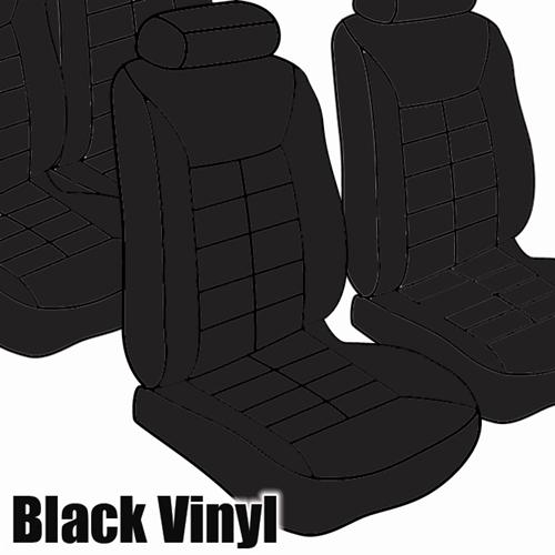 TMI Mustang Seat Upholstery Black Vinyl (90-92) LX Coupe