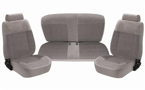 TMI Mustang Seat Upholstery Titanium Gray Cloth (90-92) Coupe