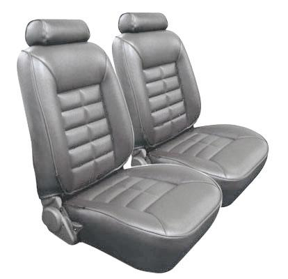 TMI Mustang Seat Upholstery Titanium Gray (90-92) LX Hatchback