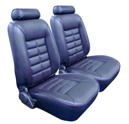 TMI Mustang Seat Upholstery Crystal Blue Vinyl (90-92) LX Hatchback