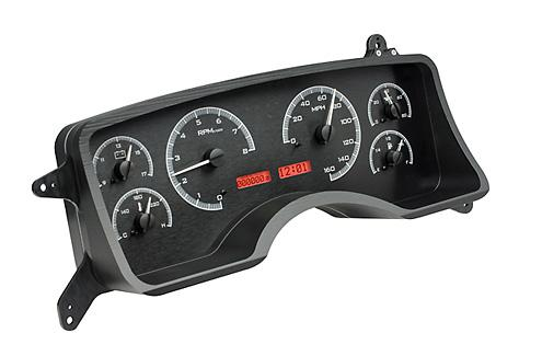 1990-93 Mustang Dakota Digital Gauge Cluster. Black w/ red digital readout.