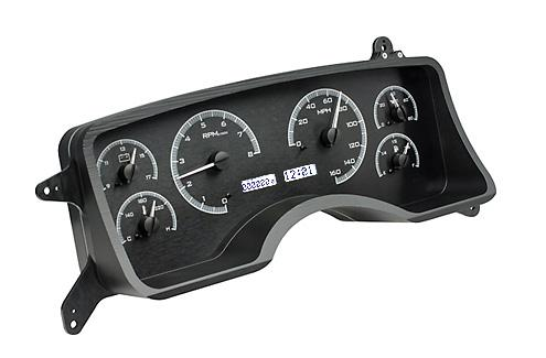 1990-93 Mustang Dakota Digital Gauge Cluster. Black w/ white digital readout.