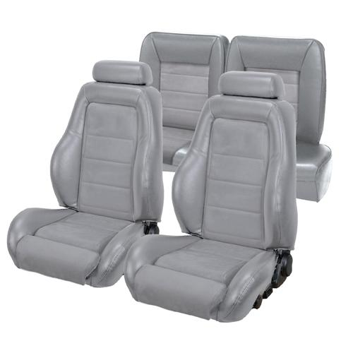 TMI Mustang 03-04 Cobra Seat Upholstery w/ Seat Foam Opal Gray/Graphite (1993) Hatchback