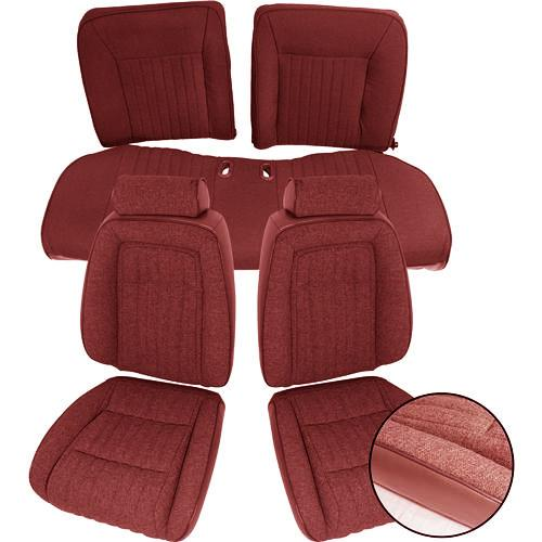 1993 Mustang TMI Hatchback Sport Seat Upholstery, Cloth. Ruby Red