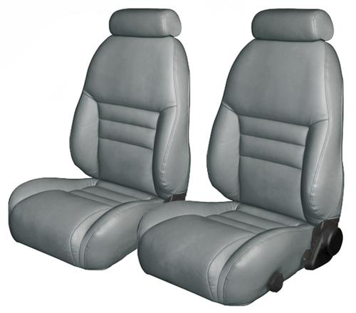 TMI Mustang Sport Seat Upholstery Opal Gray Leather (94-95) Coupe