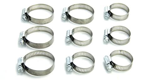 96-04 MUSTANG 4.6L GT RADIATOR HOSE CLAMP KIT - 96-04 MUSTANG 4.6L GT RADIATOR HOSE CLAMP KIT