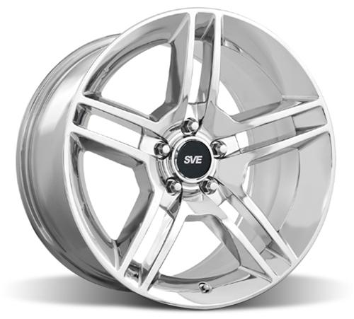 SVE Mustang GT500 Wheel - 19x8.5 Chrome (05-14) - SVE Mustang GT500 Wheel - 19x8.5 Chrome (05-14)