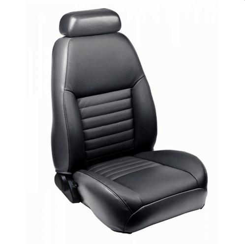 TMI Mustang Sport Seat Upholstery Dark Charcoal Leather (99-04) Convertible