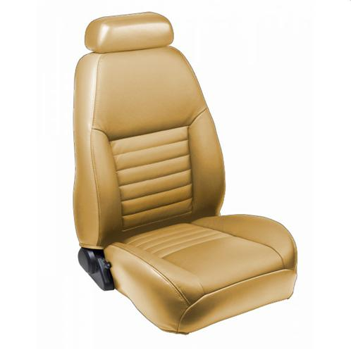 TMI Mustang Sport Seat Upholstery Parchment Tan Leather (99-04) Coupe