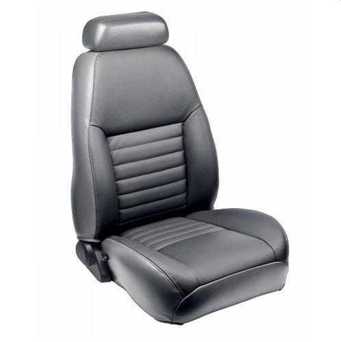 TMI Mustang Sport Seat Upholstery Medium Graphite Leather (99-04) Coupe
