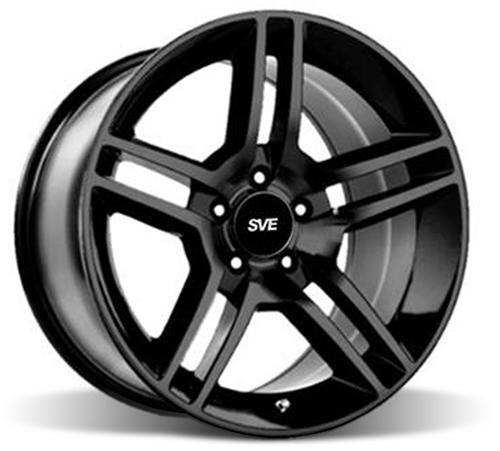 SVE Mustang GT500 Wheel - 18x9 Gloss Black (94-14) - SVE Mustang GT500 Wheel - 18x9 Gloss Black (94-14)