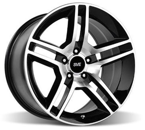 SVE Mustang GT500 Wheel - 18x9 Gloss Black w/ Machined Face (94-14)