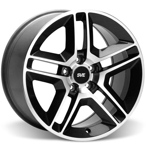 SVE Mustang GT500 Wheel - 18x9 Gloss Black w/ Machined Face (94-15)