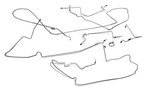 Mustang Stainless Steel Brake Line Kit, W/ ABS (94-95) GT - Picture of Mustang Stainless Steel Brake Line Kit, W/ ABS (94-95) GT