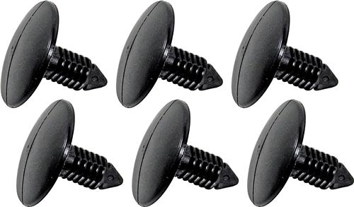 Mustang Rear Bumper Cover Push Pins, 6pc (79-93) - Picture of Mustang Rear Bumper Cover Push Pins, 6pc (79-93)
