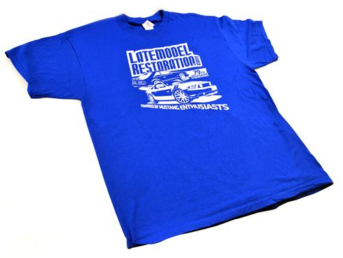 2013 Powered By Enthusiasts T-Shirt, Blue (Large)