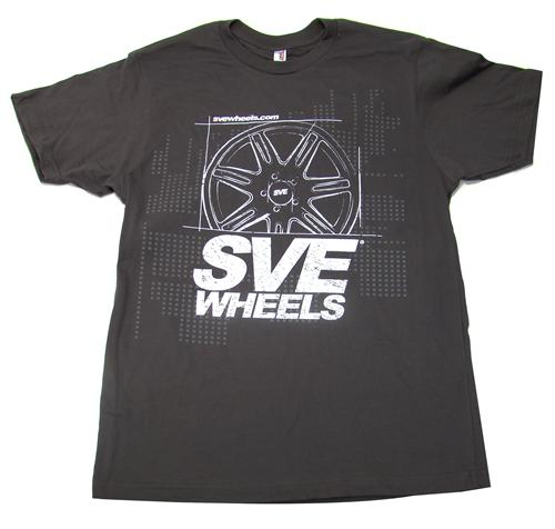 SVE Wheels T-Shirt, X-Large Dark Gray